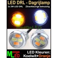 LED-Auto-Dagrijverlichting-DRL-2x2W-Wit-Oranje