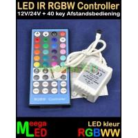 LED-Controller-RGBW-IR-12V-24V-8A-AB-40Key