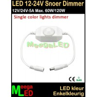 LED-Dimmer-12V-24V-5A-Snoer-Wit