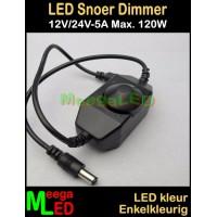 LED-Dimmer-12V-24V-5A-Snoer-Zwart