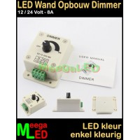 LED-Dimmer-12V-24V-8A-Wand-Opbouw-Wit