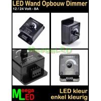 LED-Dimmer-12V-24V-8A-Wand-Opbouw-Zwart