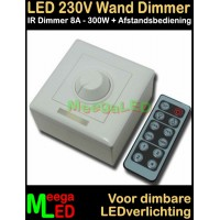 LED-Dimmer-Wand-IR-230V-8A-Wit