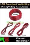 Verlengdraad-AWG22-Rood-Zwart