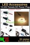 LED-Aansluitstekker-12V-DC-Female