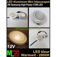 LED-Inbouwspot-Downlight-Mini-12V-3W-WW-M3-NDB