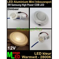 LED-Inbouwspot-Downlight-Mini-12V-3W-WW-M3-DB