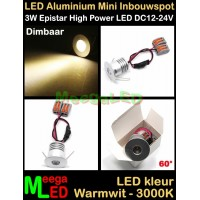 LED-Inbouwspot-Downlight-Mini-12V-3W-WW-M12DB60
