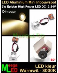 LED-Inbouwspot-Downlight-Mini-12V-3W-WW-M12DB60