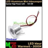 LED-Inbouwspot-Downlight-Mini-12V-3W-WW-M17-DB