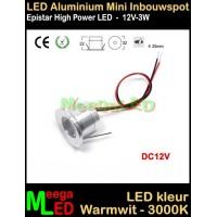 LED-Inbouwspot-Downlight-Mini-12V-3W-WW-M17-NDB