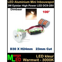 LED-Inbouwspot-Downlight-Mini-12V-3W-WW-M12DB100
