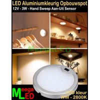 LED-Opbouwspot-Panel-Mini-12V-3W-WW-M32-DB-Veeg-Sensor