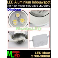 LED-Inbouwspot-Ra-3W-WW-DB