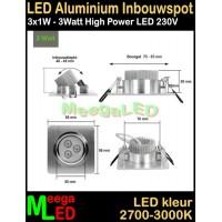 LED-Inbouwspot-Va-3x1W-Warmwit-NDB