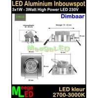 LED-Inbouwspot-Va-3x1W-Warmwit-DB