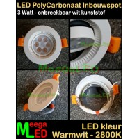 LED-Inbouwspot-PC-Wit-3W-6SMD-WW