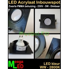 LED-Inbouwspot-PMMA-Zwart-5W-WW-V-DB