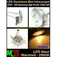 LED-Inbouwspot-Downlight-Mini-230V-3W-WW-M4-DB