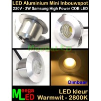 LED-Inbouwspot-Downlight-Mini-230V-3W-WW-M2-DB