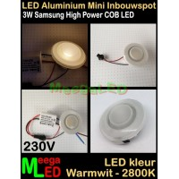 LED-Inbouwspot-Downlight-Mini-230V-3W-WW-M3-NDB