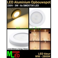 LED-Opbouwspot-Panel-Mini-230V-3W-WW-M30-NDB