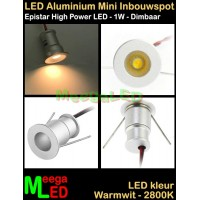 LED-Inbouwspot-Downlight-Mini-12V-1W-WW-M6-DB