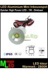 LED-Inbouwspot-Downlight-Mini-12V-1W-WW-M6-DB