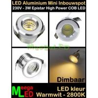LED-Inbouwspot-Downlight-Mini-230V-3W-WW-M7-DB