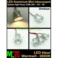 LED-Inbouwspot-Downlight-Mini-12V-1W-WW-M20-DB