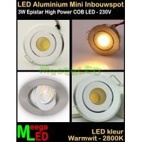 LED-Inbouwspot-Mini-230V-3W-WW-M41-NDB
