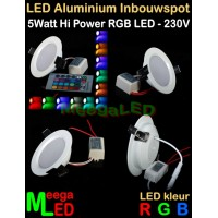 LED-Inbouwspot-RGB-Wit-5W