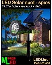 LED-Solar-Wand-Grond-Spot-7LED-3.5W-Warmwit