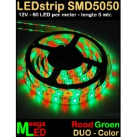 LED-strip-12V-SMD5050-60LED-Duo-Rood-Groen