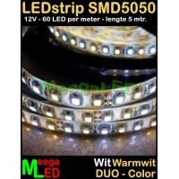 LED-strip-12V-SMD5050-60LED-Duo-Wit-Warmwit