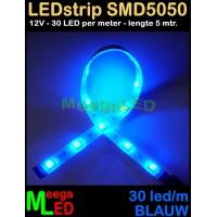 LED-strip-12V-SMD5050-30L-Blauw