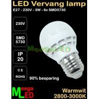 LED-E27-G45-lamp-230V-3W-PMMA-WW-2700K-NDB
