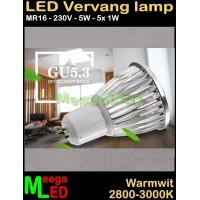 LED-MR16-spot-lamp-230V-5x1W-WW