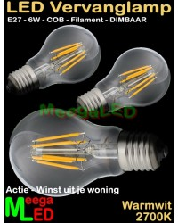 LED-E27-A60-Filament-Lamp-6W-COB-WW-Dimbaar-3Stuks