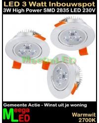 LED-Inbouwspot-WUJW-3W-WW-NDB-3Stuks