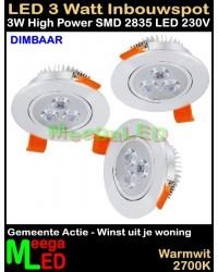 LED-Inbouwspot-WUJW-3W-WW-Dimbaar-3Stuks