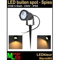 LED-Buiten-Spot-op-spies-230V-5W-WW