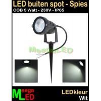 LED-Buiten-Spot-op-spies-230V-5W-Wit