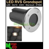 LED-RVS-Buiten-Grond-Spot-Rond-IP67-230V-GU10