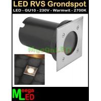 LED-RVS-Buiten-Grond-Spot-Vierkant-IP67-230V-GU10