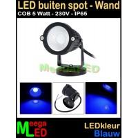 LED-Buiten-Spot-Wandlamp-230V-5W-Blauw