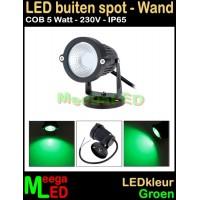 LED-Buiten-Spot-Wandlamp-230V-5W-Groen
